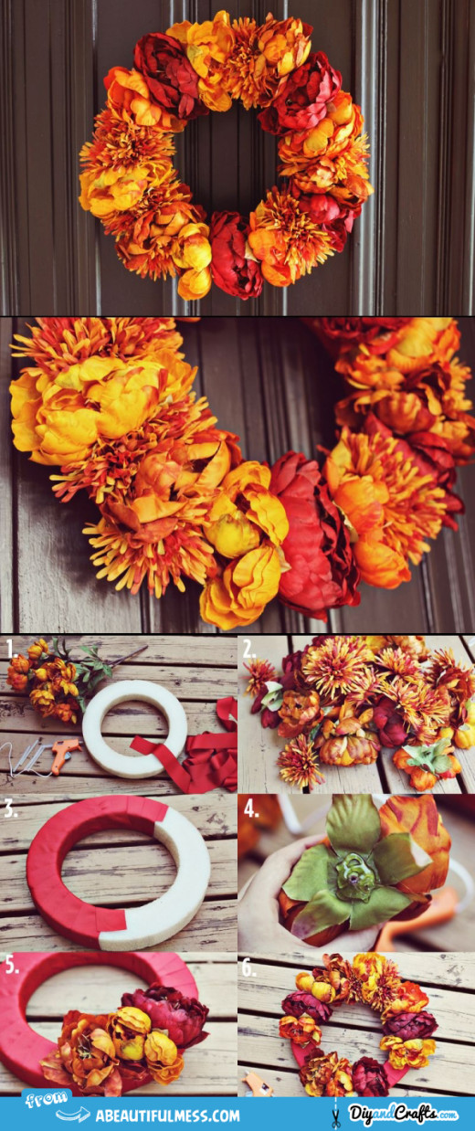 Autumn Floral Wreath Project | DIY