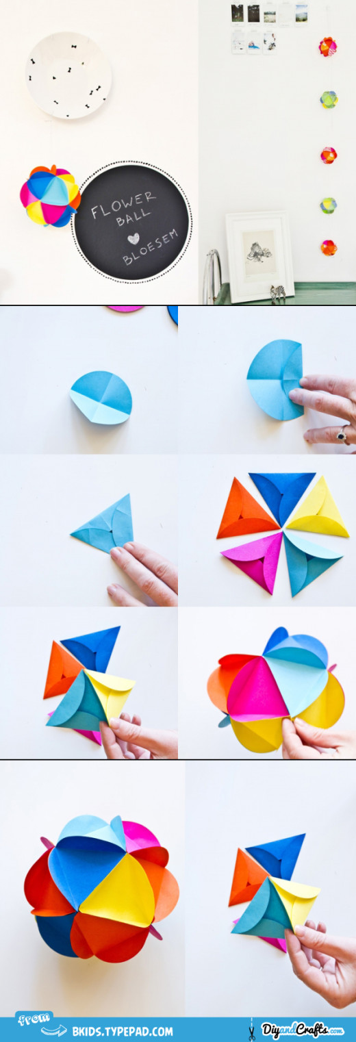 Paper flower ball DIY