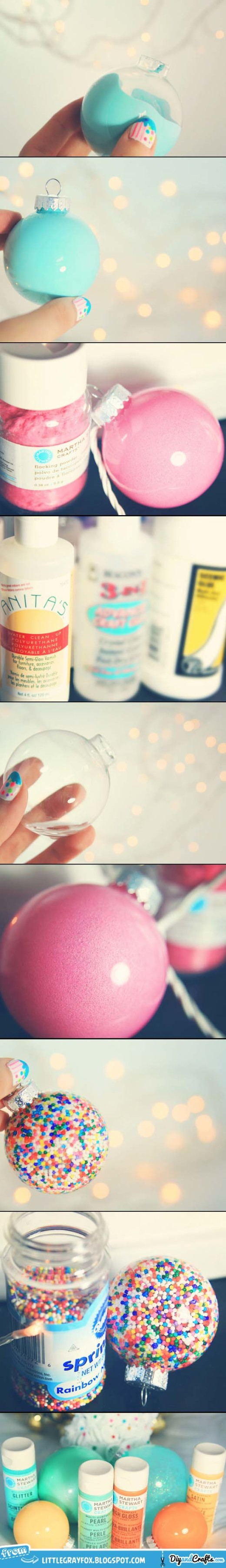 Simple Filled and Painted Christmas Ornaments