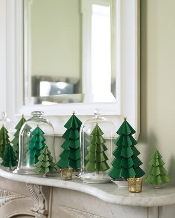 Paper trees – Simple Holiday Decor Ideas.Easy Christmas Decorating
