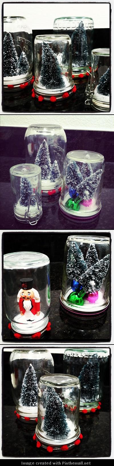 Mason Jar Snow Globe DIY