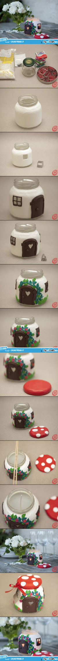 Glass Jar Mushroom – candle House | DIY
