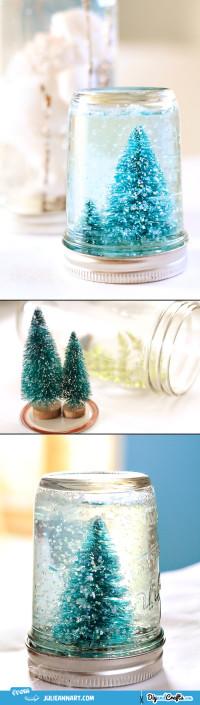 Mason Jar Snow Globe Tutorial | DIY