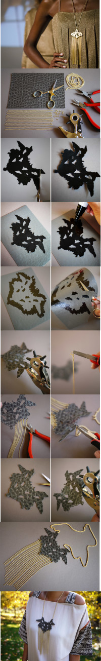 Babi Rorschach Necklace | DIY
