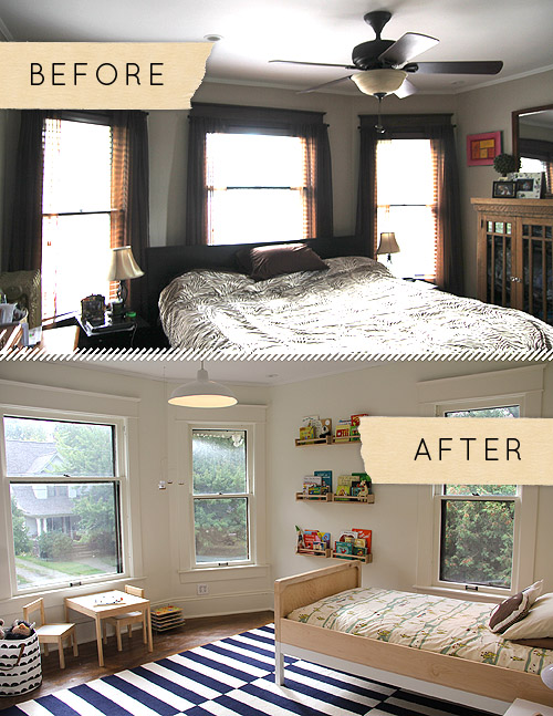 Before & After: A Sophisticated, Modern Take on A Boy's Bedroom