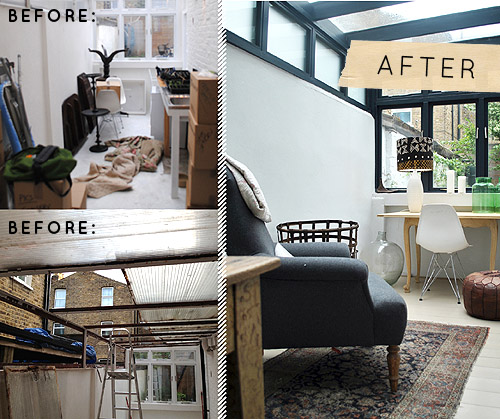 Before After Terrace Kitchen Design Sponge DIY Crafts