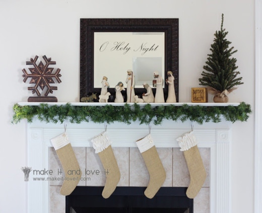 Burlap Christmas Stockings | Make It and Love It