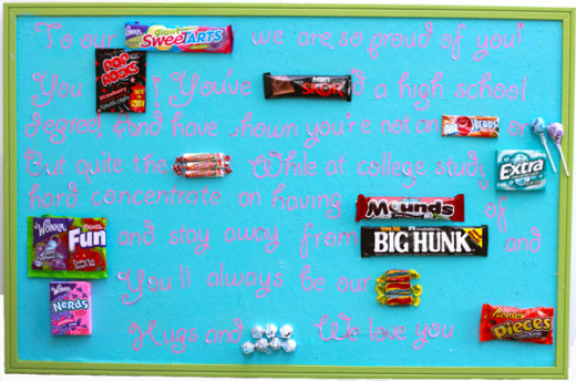 DIY Candy gram poster for graduation