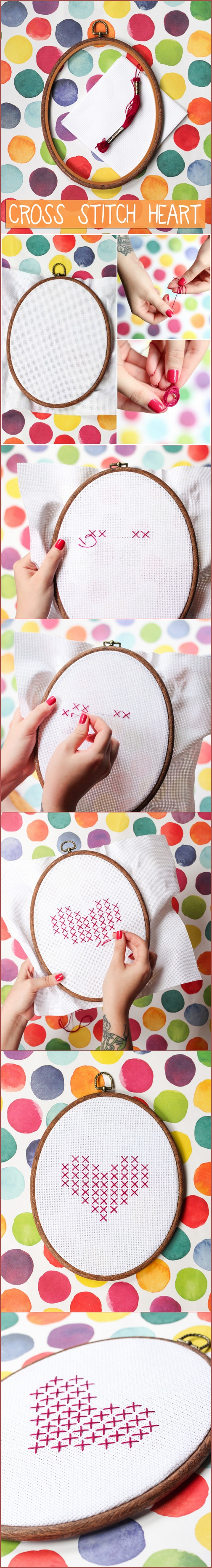 Cross Stitch Heart-We Like Craft