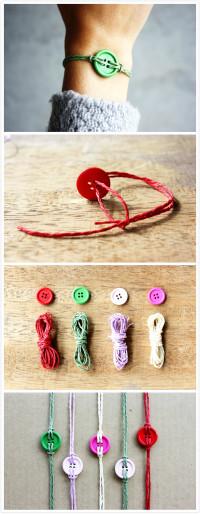 DIY Button Bracelets