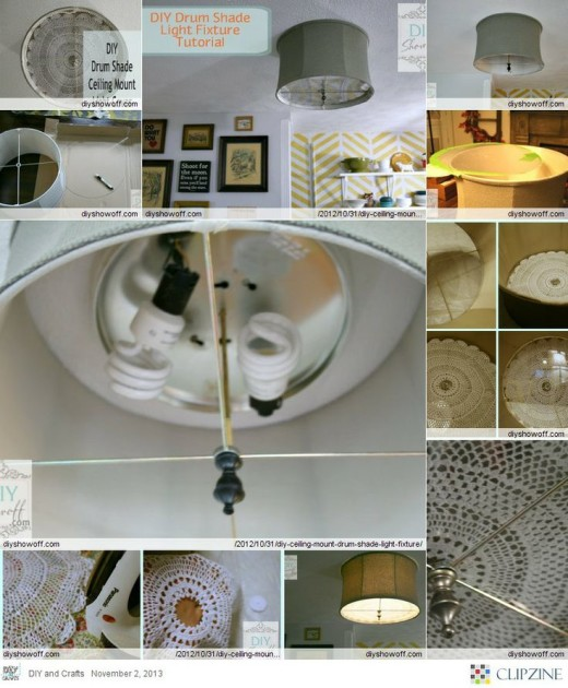 DIY Ceiling Mount Drum Shade Light Fixture Cover | DiY projects