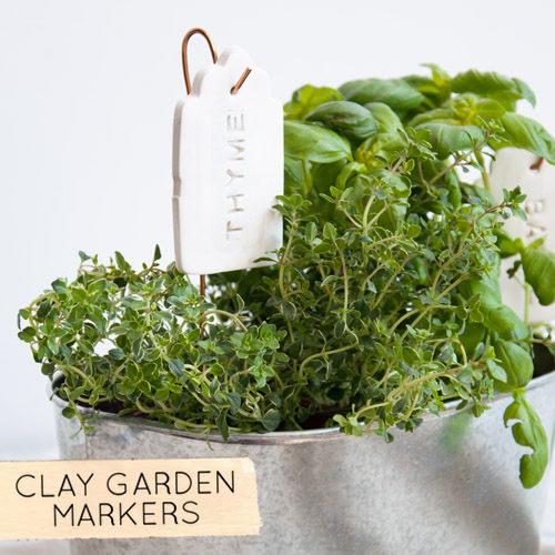 DIY Ceramic Tag Plant Markers