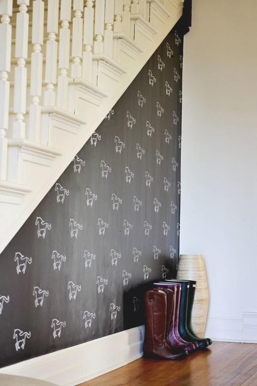 DIY Custom Stenciled Wall – A Beautiful Mess