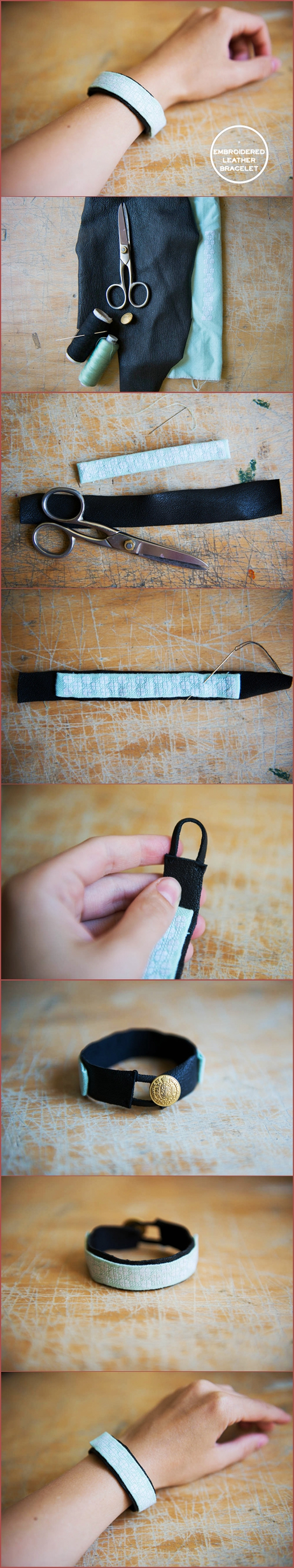 DIY: EMBROIDERY LEATHER BRACELET