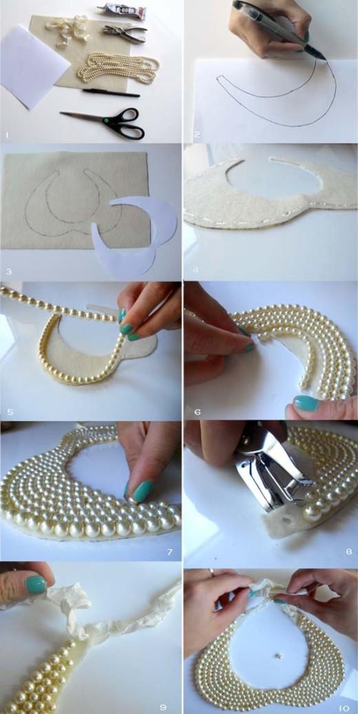 Peter Pan Collar Necklace #DIY