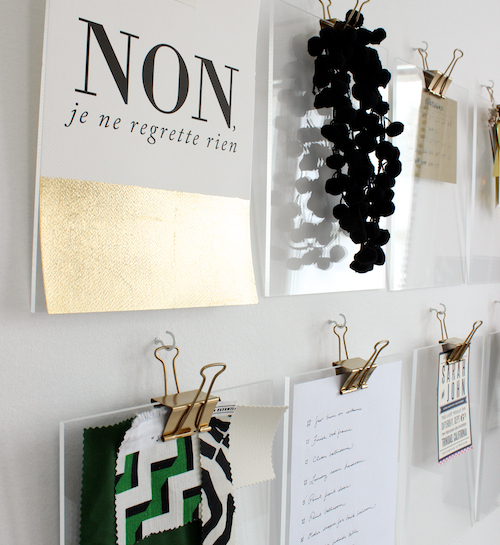 DIY Gold + Acrylic Clipboards