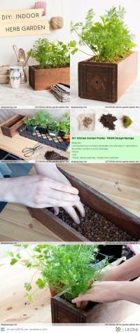 DIY Kitchen Garden Planter | DIY Gardens and Flowers