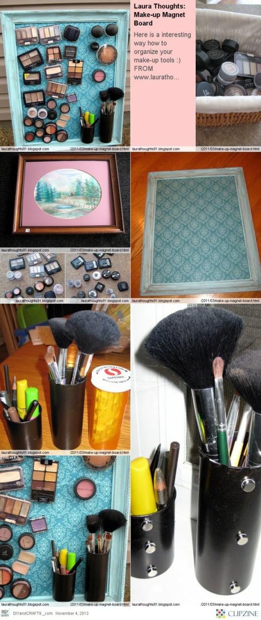 DIY – Make-up Magnet Board