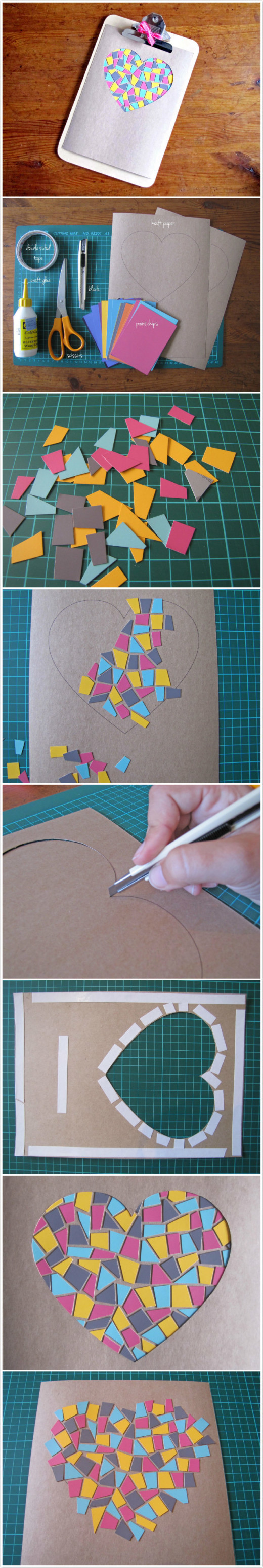 DIY: Paint Chip Mosaic Artwork