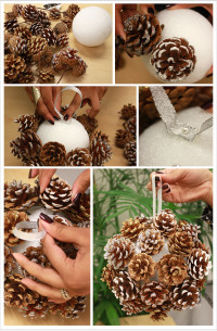 DIY: Pinecone Poms