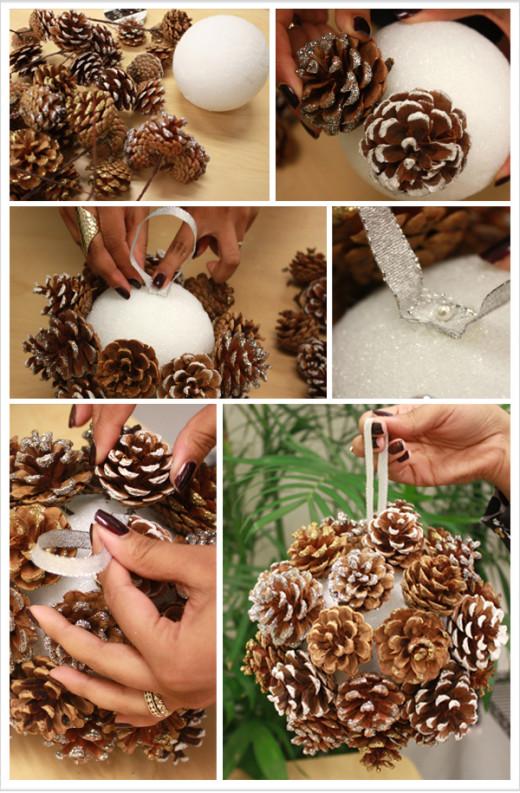 DIY: Pinecone Poms