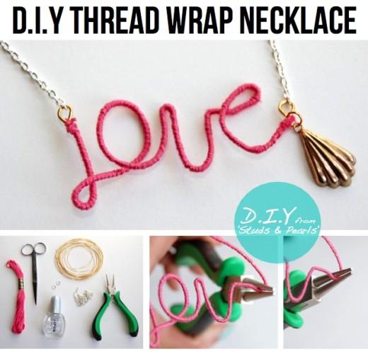 Thread Wrap Necklace | #DIY