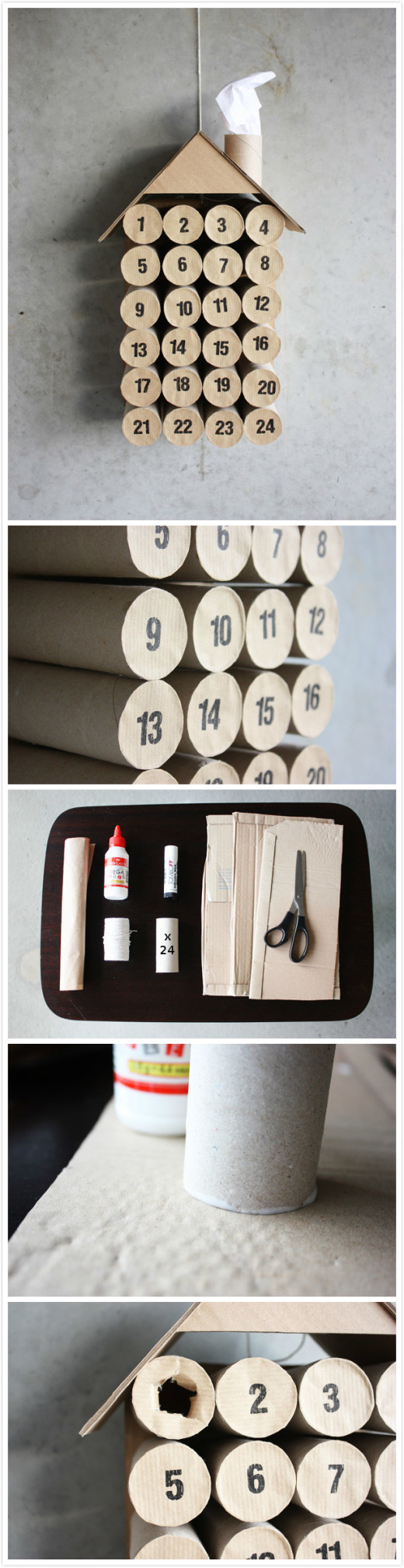 DIY Toilet Paper Roll Christmas Calendar | Reuse from MorningCreativity