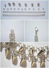 DIY: Spiked Bracelet
