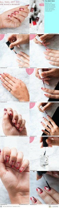 Fall Nail Art DIY with Jessica Washick | Design*Sponge | DIY Beauty