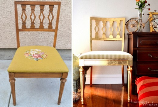 gild a chair in gold! #DIY
