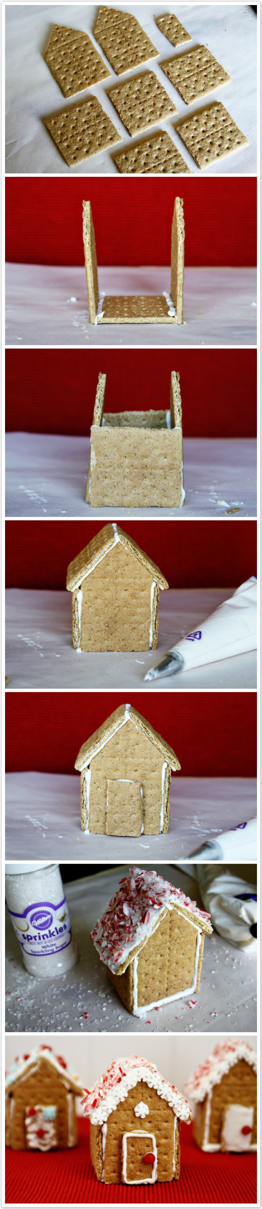How To Make Graham Cracker Gingerbread Houses