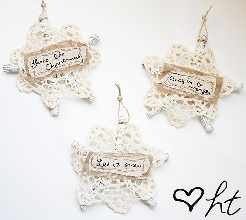 Vintage Clothespin Snowflakes