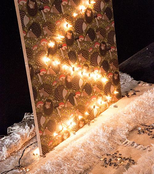 DIY Christmas Tree Wall Panel