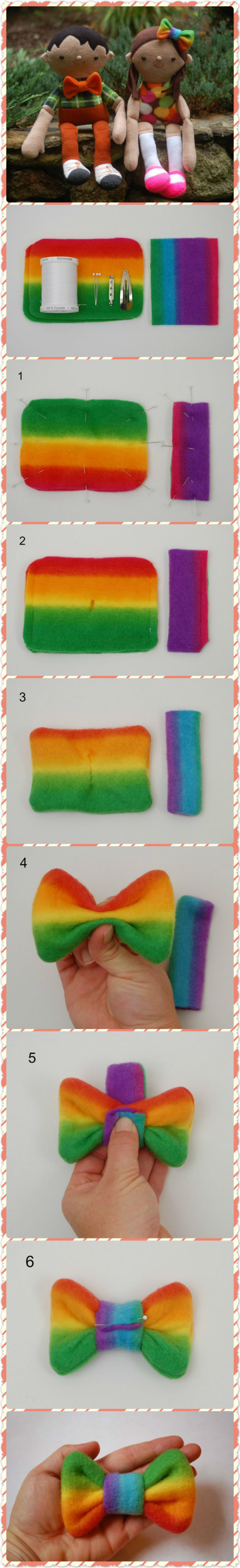 How to Make a Fleece Bow Tie