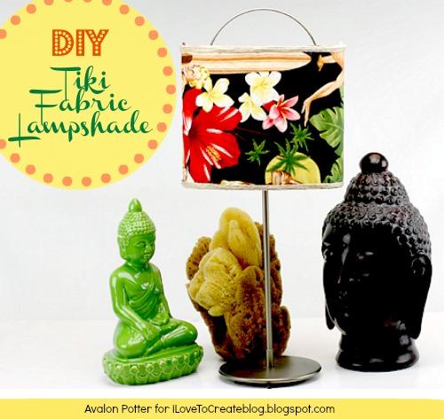 DIY Tiki Fabric Lampshade