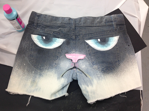 Grumpy Cat Shorts DIY