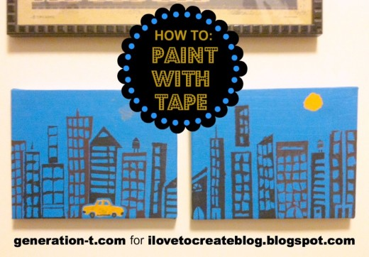 iLoveToCreate Blog: How to: Paint a Cityscape with Tape