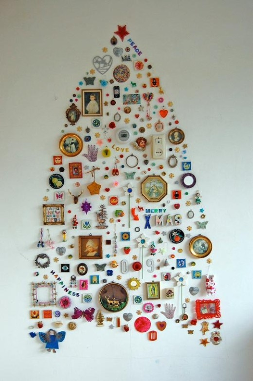 Jane's Wall Collection Christmas Tree | Apartment Therapy