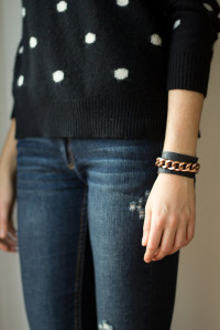 Le.Fanciulle: DIY Leather & Chain Cuff