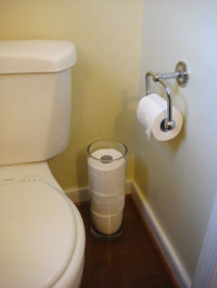 Make Even Toilet Paper Look Chic By Storing It In Stylish Ways | Young House Love