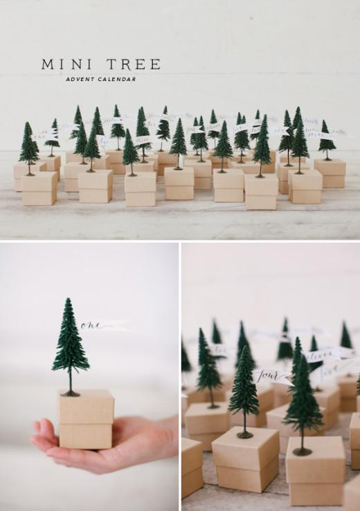 Mini Tree Advent Calendar | DIY