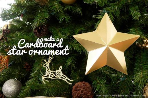 Minted Strawberry: DIY: Cardboard Star Ornaments