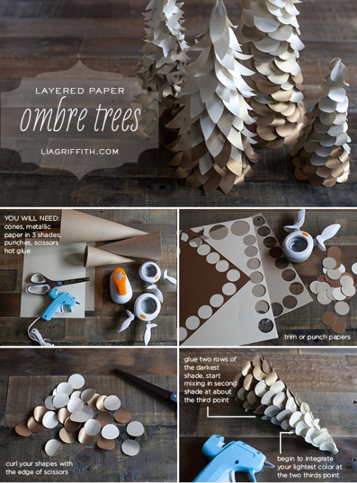 Ombre Cone Christmas Trees | Lia Griffith