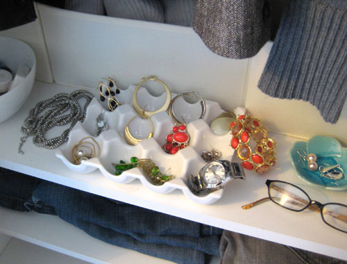 Organize Your Jewelry And Store It In Style With A Ceramic Egg Crate Or Even A Built-In Ikea Drawer | Young House Love