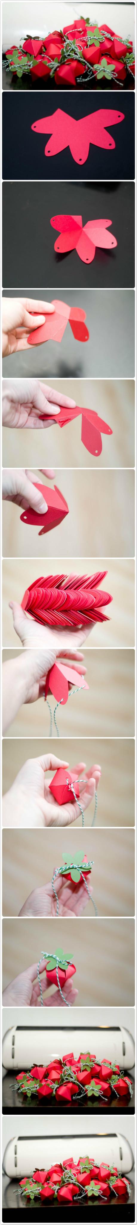 Paper Strawberry Box