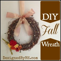 Simple DIY Fall Wreath – DesignedByBH