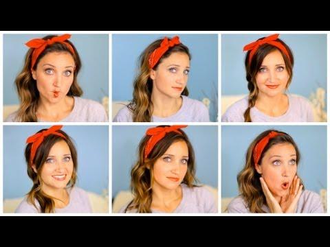 Six DIY 1-Minute Bandana Hairstyles   Cute Girls Hairstyles