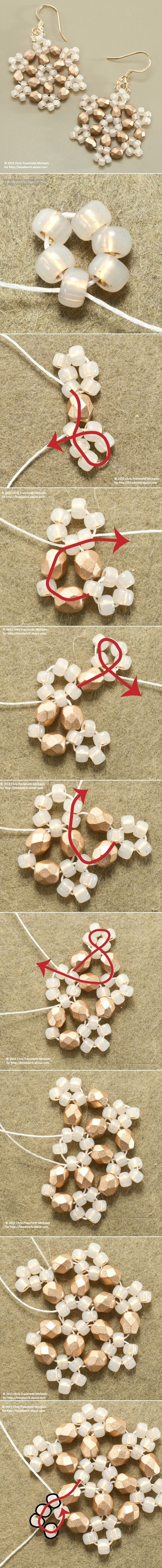 Snowflake Earrings DIY Jewelry Earrings