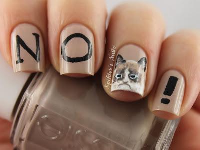 Spektor's Nails: I had fun once. It was awful. Grumpy Cat Nails