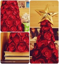 #DIY tutorial: rosette Christmas tree